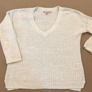 Banana Republic summer weave silver sweater